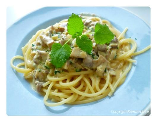 Spaghetti med svampe