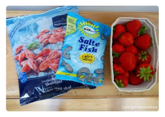 Rejer lakrids og jordbær