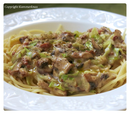 Pasta med spidskål 3