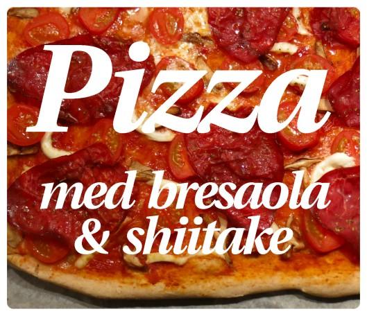 Pizza med bresaola 1