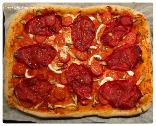 Pizza med bresaola 6