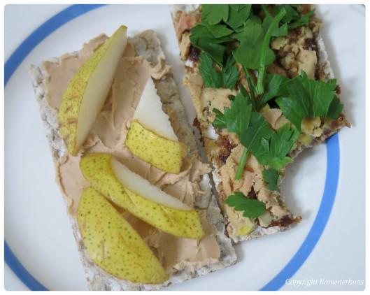 Foie gras terrine og smørbar svampepaté