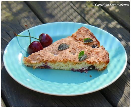 Kirsebærkage med blåbær 5