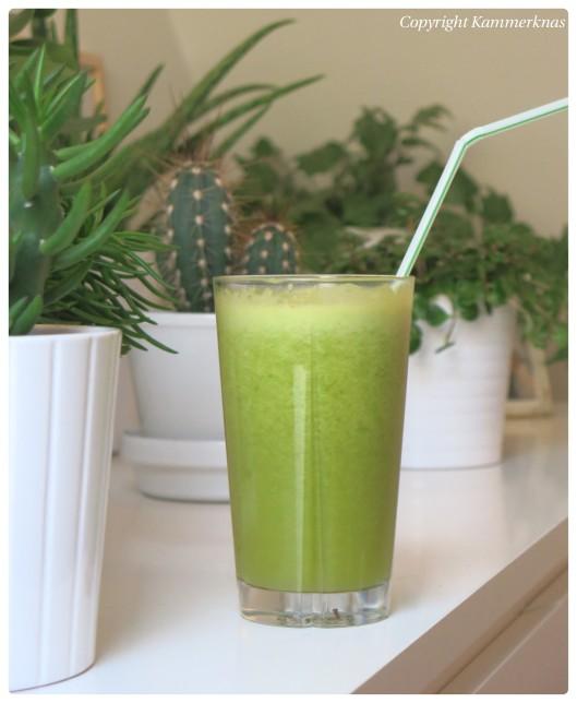 32. Grøn frugtjuice