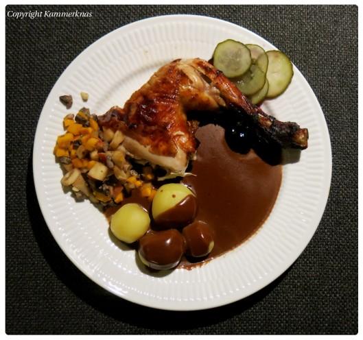 Kylling med græskar og svampe 4