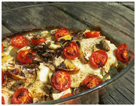 Torsk med bagt tomat og fennikel 3