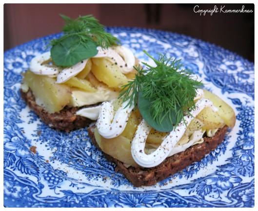 Kartoffelmad med spidskål
