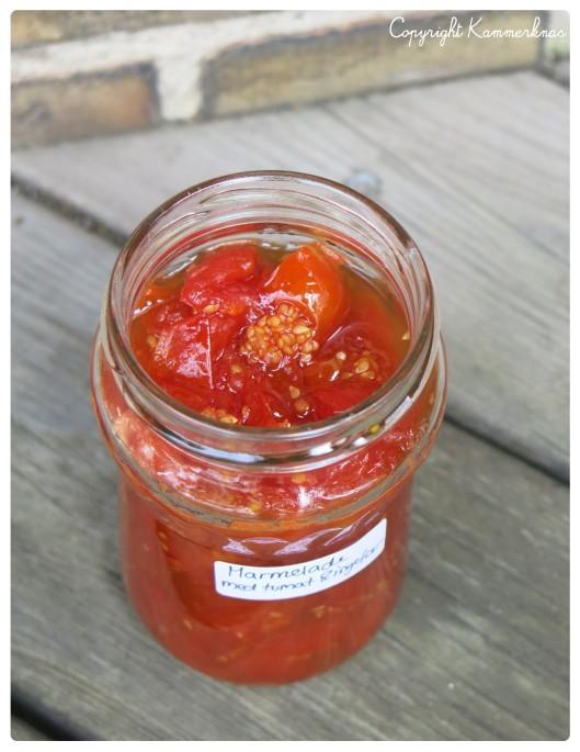Tomatmarmelade med ingefær 4