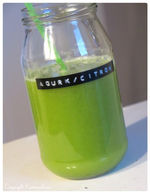 Juice med agurk og citron
