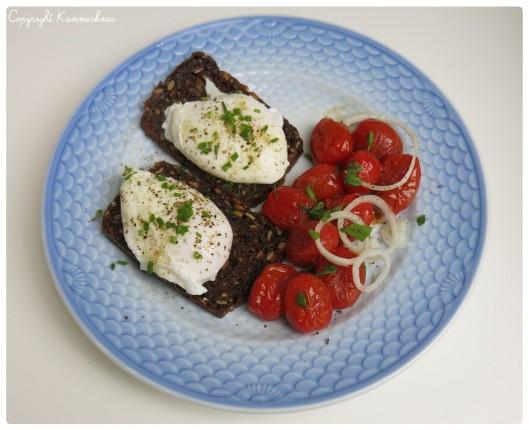 Pocheret æg med tomat 1