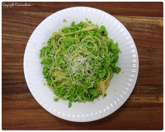 Pasta med ærter og parmesan 1